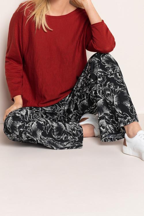 Emerge Wide Leg Crepe Pant