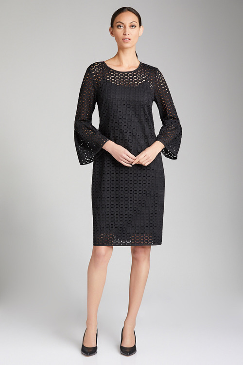 Grace Hill Bell Sleeve Lace Dress