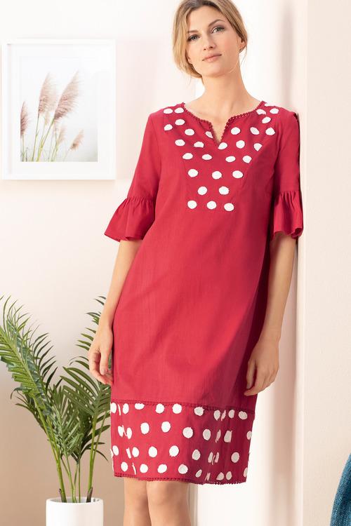 Grace Hill Ruffle Sleeve Dress