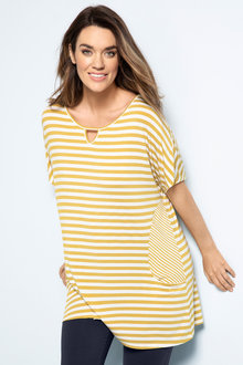 Plus Size - Sara Stripe Tunic