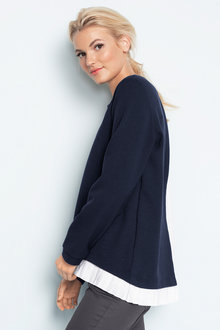 Emerge Pleat Hem Sweater