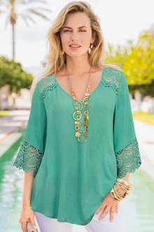 Together Lace Sleeve Top