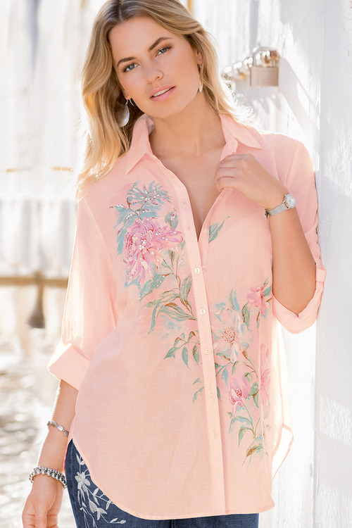 Together Floral Placement Print Shirt