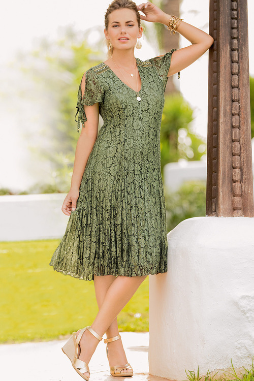 Together Embroidered Lace Dress