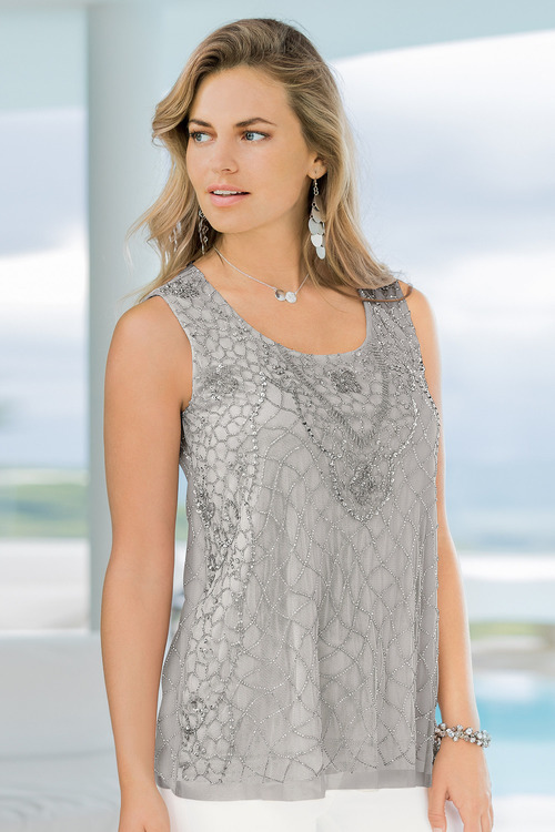 European Collection Beaded Top