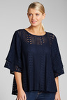 Grace Hill Flutter Sleeve Lace Top (with cami)
