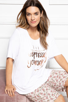 Plus Size - Sara Espresso Yourself Tee