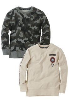 Next Camo Sweats Tops Two Pack (3-16yrs)