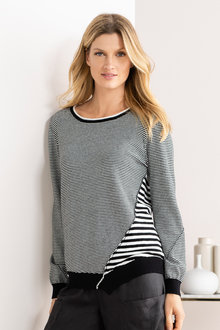 Grace Hill Mixed Stripe Knit