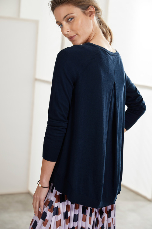 Grace Hill Pleat Back Sweater