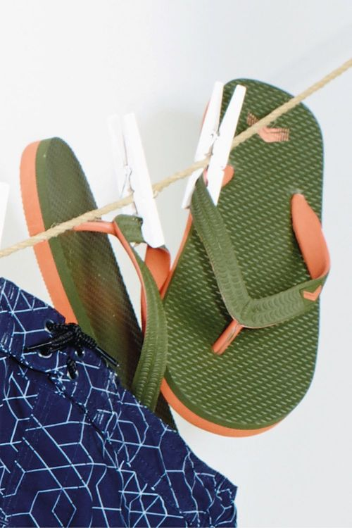 Next Khaki Flip Flops (Older Boys)