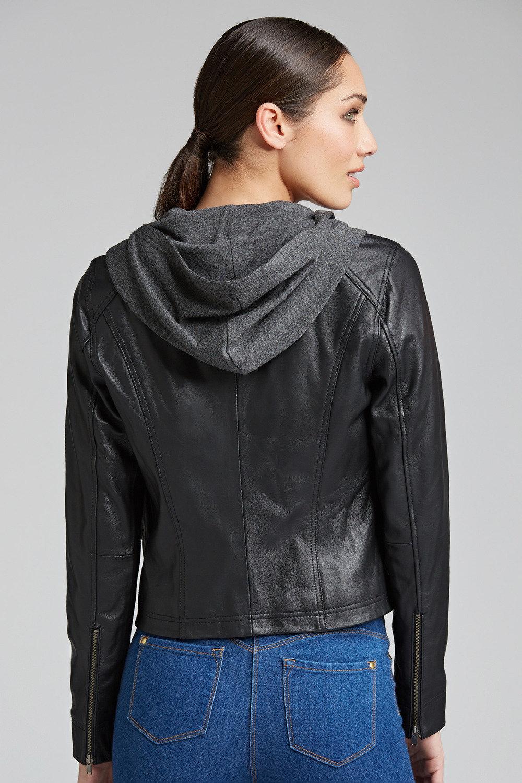 488052e6b Emerge Contrast Sweat Leather Jacket Online