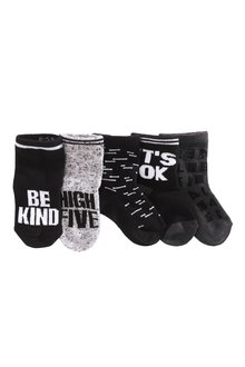 Next Slogan Socks Five Pack (Younger Boys)