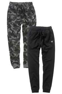 Next Black/Grey Camo Joggers Two Pack (3-16yrs)