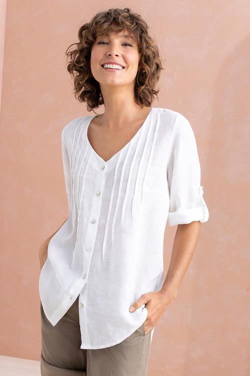 Capture Linen V Neck Shirt