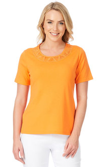 Noni B Renee Detail Neck Tee