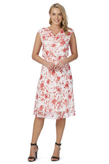 Noni B Rhianne Aline Printed Dress
