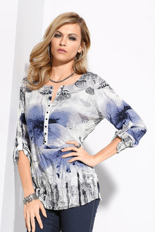 Euro Edit Longline Crinkle Top - 198575