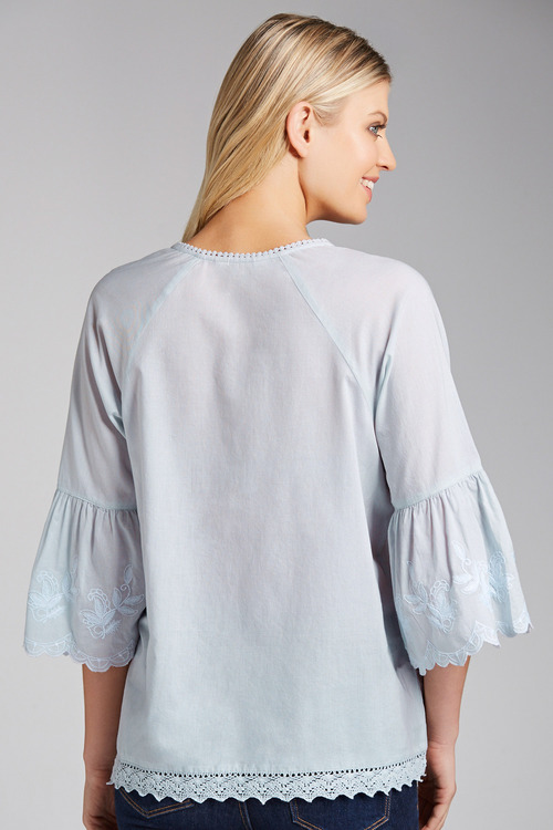 Capture Embroidered Sleeve Boho Top