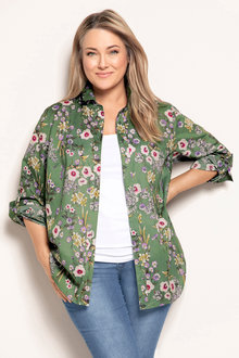 Plus Size - Sara Cotton Voile Shirt