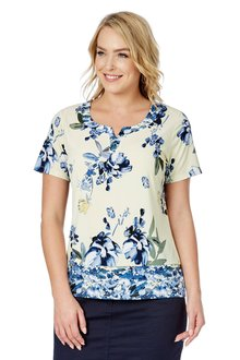 Noni B Lucy Printed Top