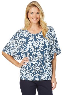 Noni B Telma Printed Top