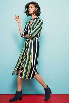 Next Stripe Shirt Dress - Tall