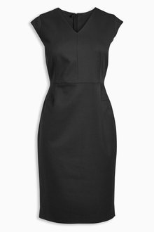 Next Tailored Cap Sleeve Dress - Petite
