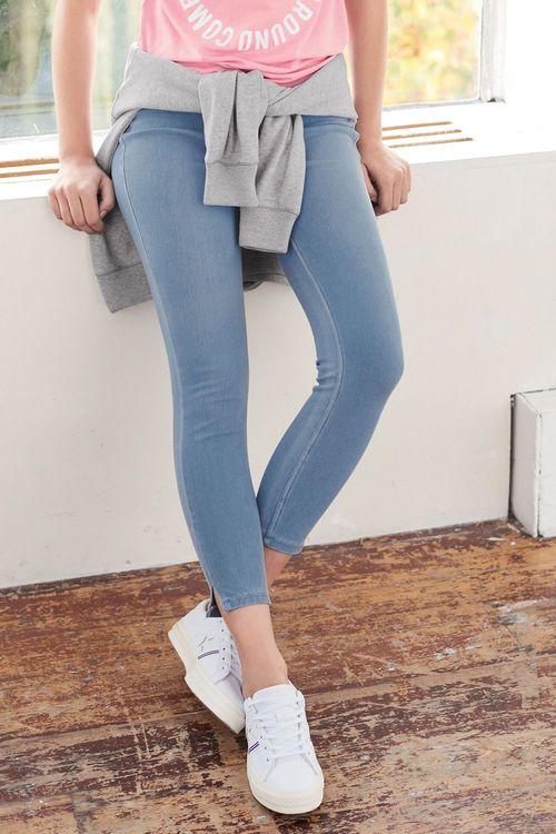 Next Jersey Denim Cropped Leggings - Petite