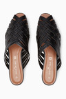 Next Leather Woven Mules