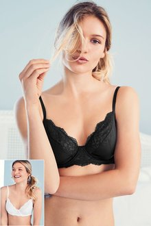 Next Georgie Non Padded Full Cup Bras Two Pack