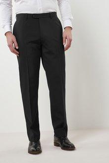 Next Machine Washable Plain Front Trousers - Regular Fit