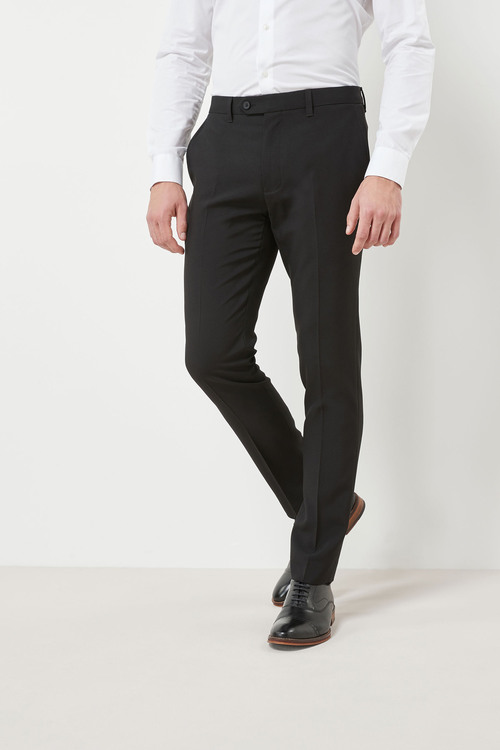 Next Machine Washable Plain Front Trousers - Skinny Fit