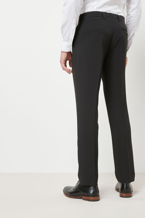 Next Machine Washable Plain Front Trousers - Slim Fit