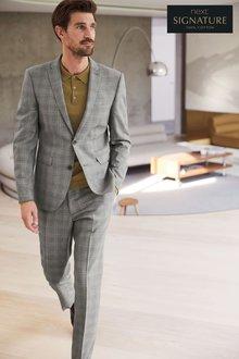 Next Check Slim Fit Suit: Trousers