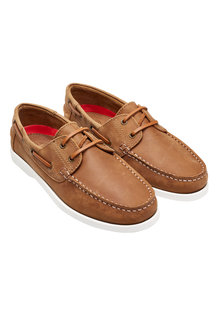 Next Waxed Leather Boat Shoe
