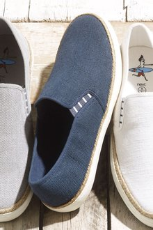 Next Washed Canvas Jute Slip-On