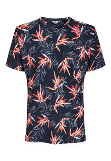 Next Red Leaf Print T-Shirt