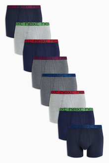 Next Marl Waistband A-Fronts Eight Pack
