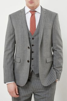 Next Signature Stripe Slim Fit Suit: Jacket