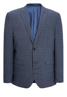 Next Signature Check Tailored Fit Suit: Jacket