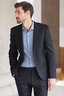 Next Textured Suit: Jacket - Double Breasted Slim Fit