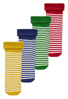 Next Bright Stripe Socks Four Pack (Younger Boys)