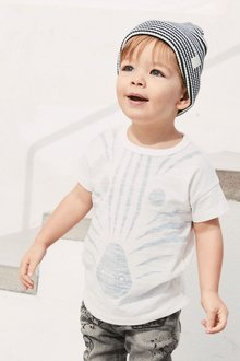 Next Zebra Face Short Sleeve T-Shirt (3mths-6yrs)