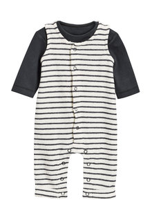 Next Stripe Dungarees (0mths-2yrs)