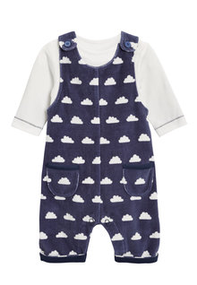 Next Cloud Dungarees And Bodysuit Set (0mths-2yrs)