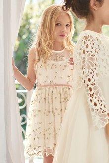 Next Embroidered Bridesmaid Dress (3-16yrs)