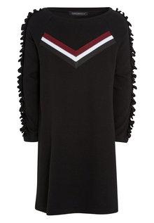 Next Chevron Frill Sleeve Dress (3-16yrs)