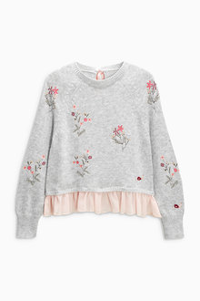 Next Woven Mix Sweater (3-16yrs)