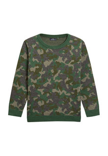 Next Camo Knitted Crew (3-16yrs)
